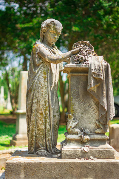 Cemetaries Wall Art - Photograph - Memphis Elmwood Cemetery Monument - Cassie Hill by Jon Woodhams