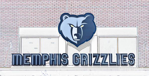 Memphis Grizzlies Wall Art - Digital Art - Memphis Grizzlies by Liz Leyden
