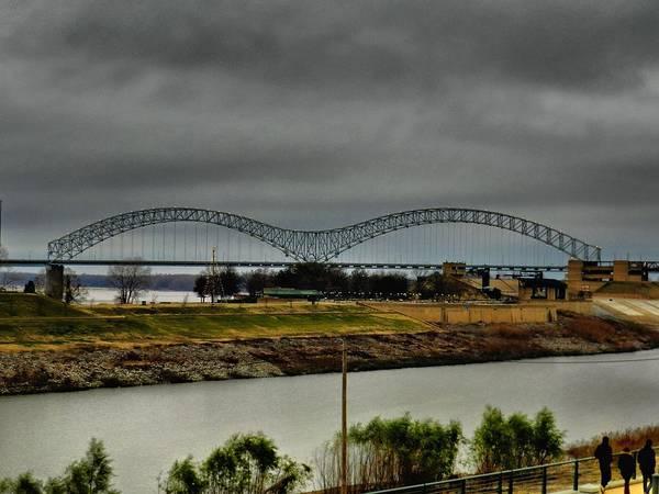 Photograph - Memphis - Hernando De Soto Bridge 004 by Lance Vaughn