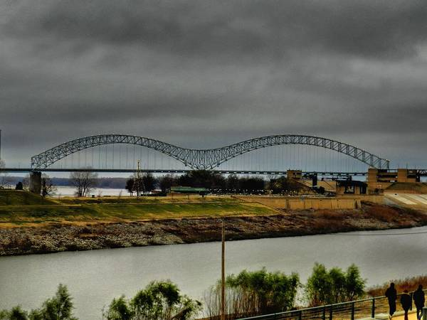 Wall Art - Photograph - Memphis - Hernando De Soto Bridge 004 by Lance Vaughn