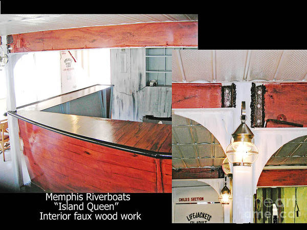 Mixed Media - Memphis Riverboats Island Queen Bar by Lizi Beard-Ward