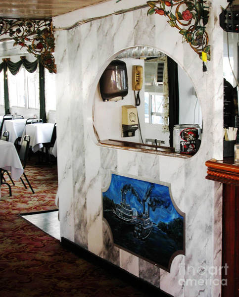 Painting - Memphis Riverboats Marbling And Mural On Q3 Bar by Lizi Beard-Ward