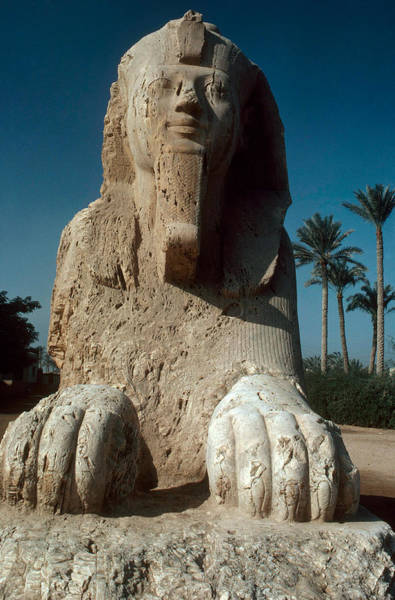 Alabaster Photograph - Memphis Sphinx by George Holton