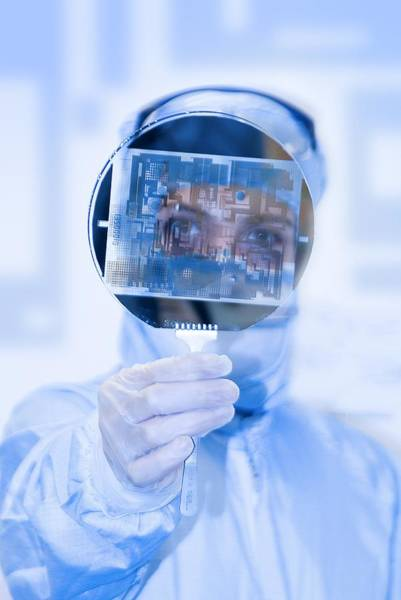 Microelectromechanical Systems Wall Art - Photograph - Mems Chip by Science Photo Library