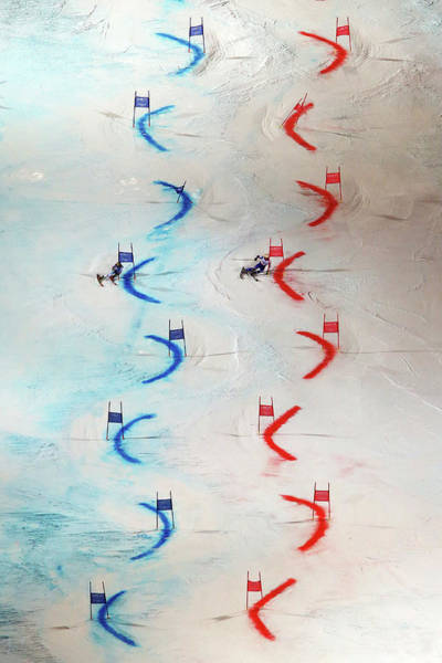 Alpine Skiing Photograph - Men And Womens Nations Team Event - by Alexander Hassenstein