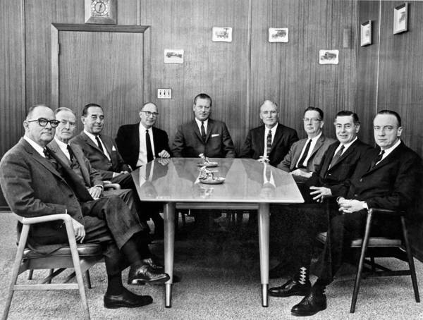 Appearance Photograph - Men At A Business Meeting by Underwood Archives