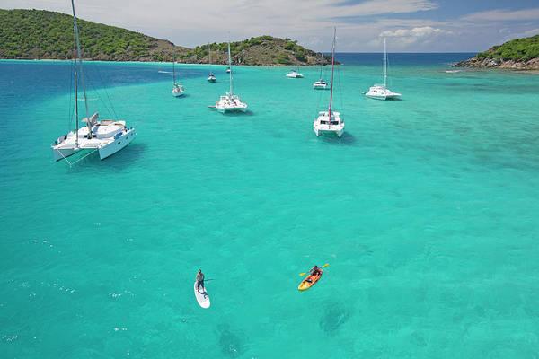 British Virgin Islands Photograph - Men Doing Water Activities by Karl Weatherly