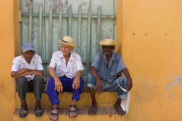 Cuba Photograph - Men On The Street, Trinidad, Cuba by Keren Su