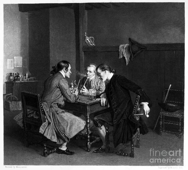 Photograph - Men Smoking by Granger