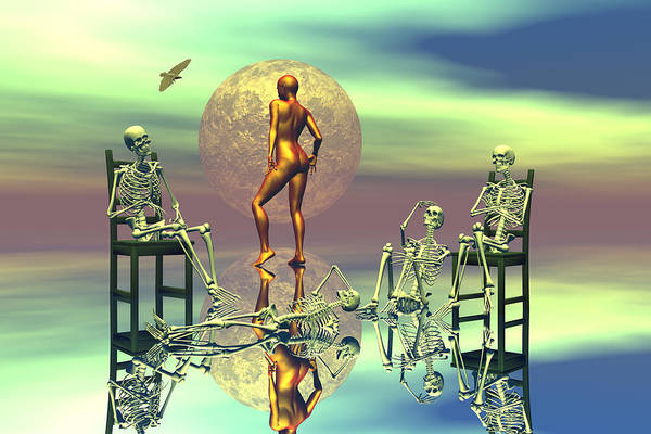 Bryce Digital Art - Men Waiting For The Perfect Woman by Claude McCoy