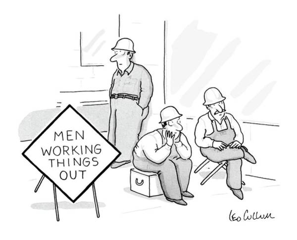 Work Out Drawing - Men Working Things by Leo Cullum