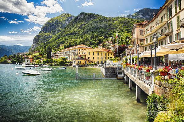 Lake George Photograph - Menaggio Scenic On Lake Como by George Oze