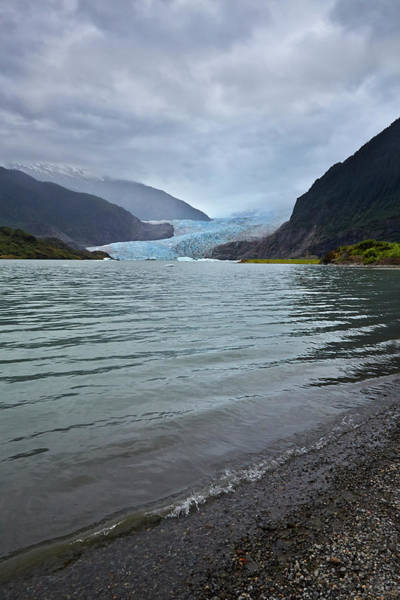 Juneau Photograph - Mendenhall Glacier And Lake, Juneau by 1photodiva