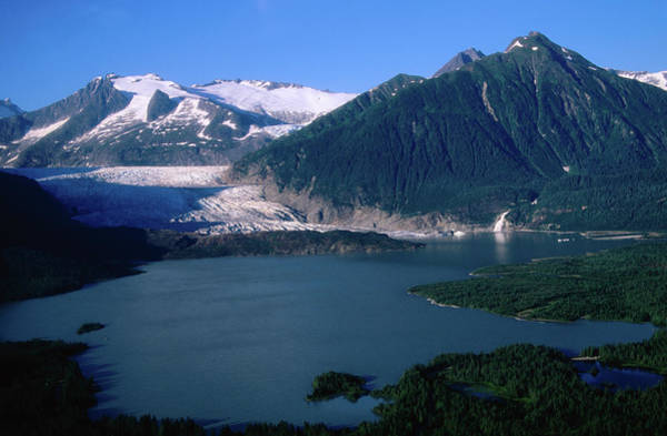 Juneau Photograph - Mendenhall Glacier With Mountains In by Ernest Manewal