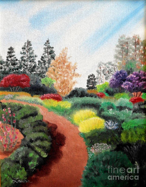 Fort Bragg Wall Art - Painting - Mendocino Botanical Gardens by Laura Iverson