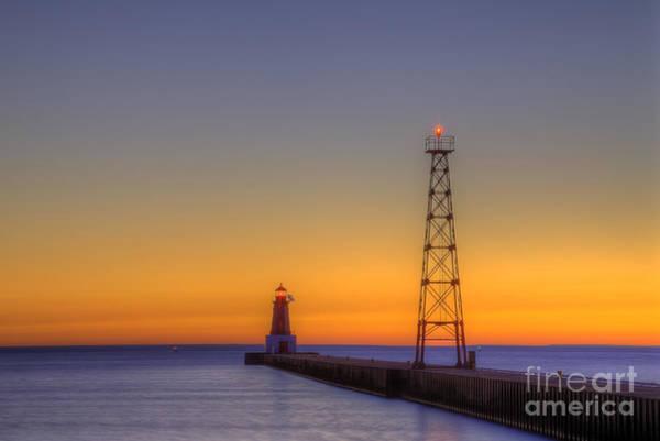 Upper Peninsula Wall Art - Photograph - Menominee Pier At Sunrise by Twenty Two North Photography