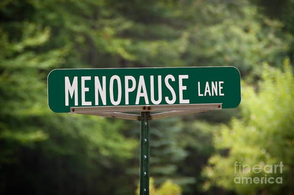 Photograph - Menopause Lane Sign by Sue Smith