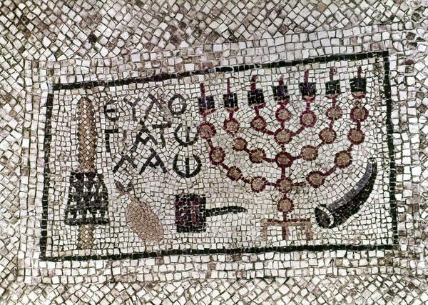 Shofar Wall Art - Painting - Menorah, 6th Century by Granger