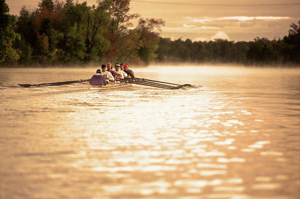 Wall Art - Photograph - Mens 8-seat Rowing Crew Training by Henry Georgi
