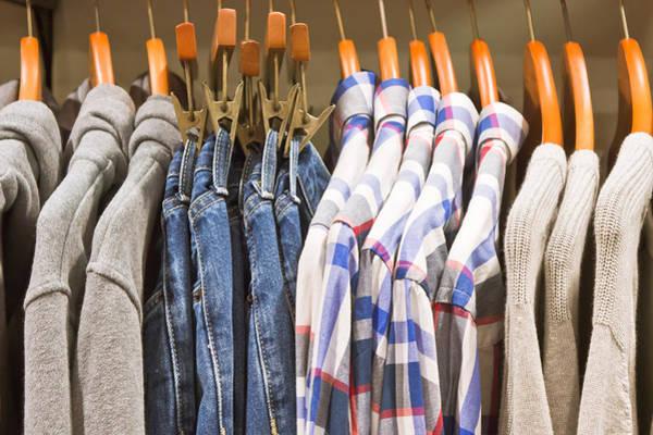 Dress Shop Photograph - Mens' Clothing by Tom Gowanlock