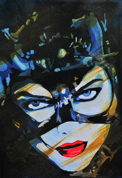 Wall Art - Painting - Meow Catwoman by Brad Jensen