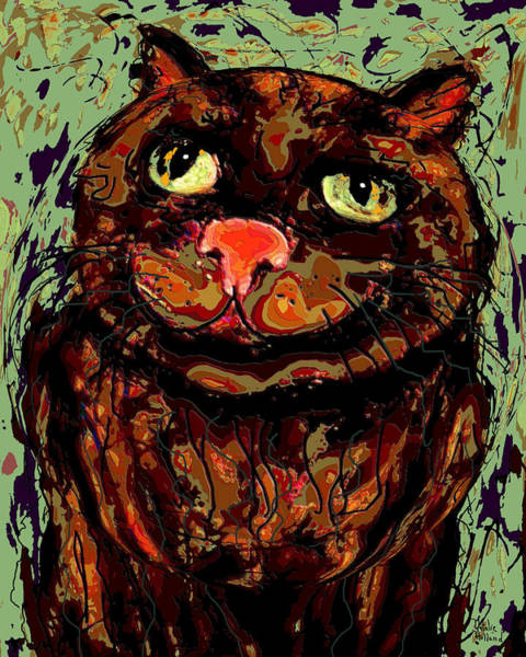 Fat Mixed Media - Meow by Natalie Holland