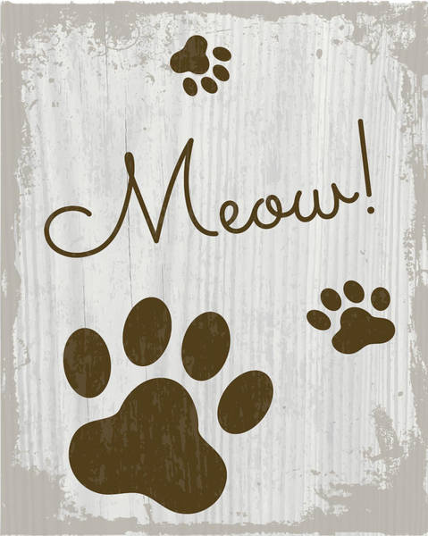 Wall Art - Painting - Meow! by Nd Art & Design
