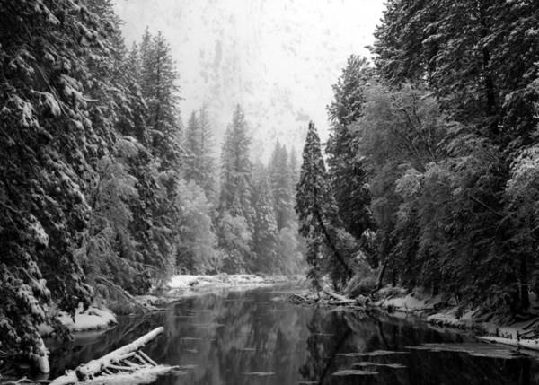 Merced Photograph - Merced River Winter by Bill Gallagher