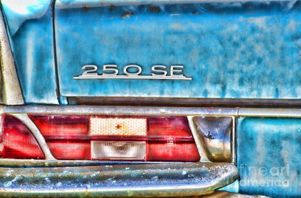 Photograph - Mercedes 250 Se Vintage Abandoned Car By Diana Sainz by Diana Raquel Sainz