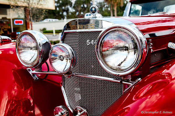 Photograph - Mercedes 544k Grille by Christopher Holmes