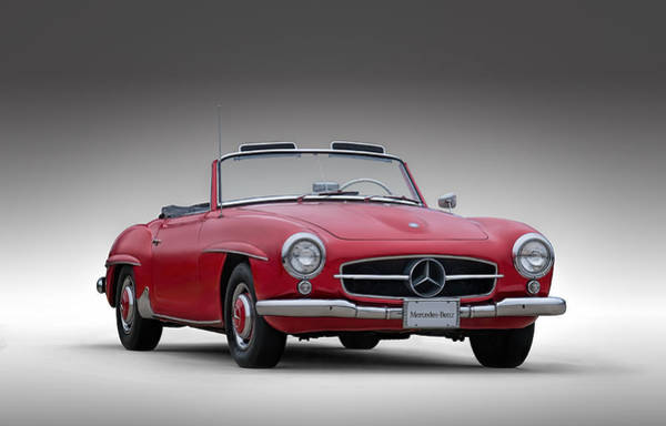 Roadster Wall Art - Digital Art - Mercedes-benz 190 Sl by Douglas Pittman