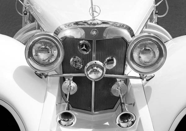 Photograph - 1938 Mercedes Benz - Bw by Paul W Faust -  Impressions of Light