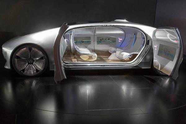 Detroit Auto Show Photograph - Mercedes-benz F015 Autonomous Car by Jim West