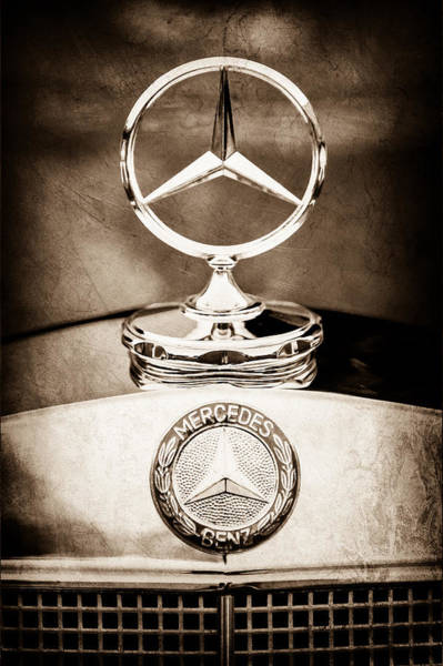 Vintage Hood Ornaments Photograph - Mercedes-benz Hood Ornament - Emblem by Jill Reger