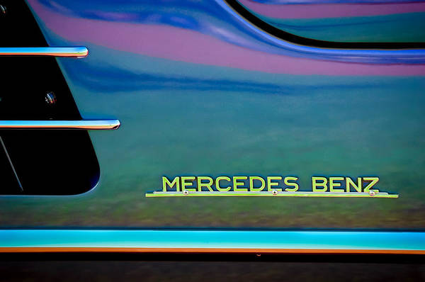 Photograph - Mercedes-benz Side Emblem by Jill Reger