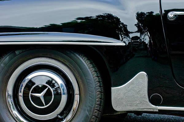 Wall Art - Photograph - Mercedes-benz Wheel Emblem by Jill Reger