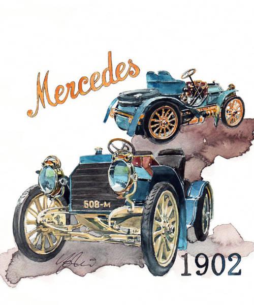 Mercedes Painting - Mercedes Simplex by Yoshiharu Miyakawa