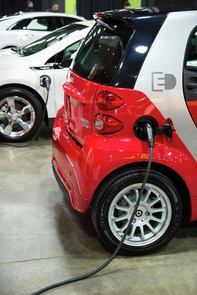 Plug-in Photograph - Mercedes Smart Electric Car by Jim West