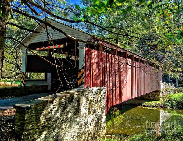Photograph - Mercers Mill Covered Bridge by Nick Zelinsky