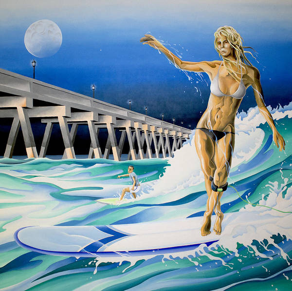 Painting - Mercers Surfer by William Love
