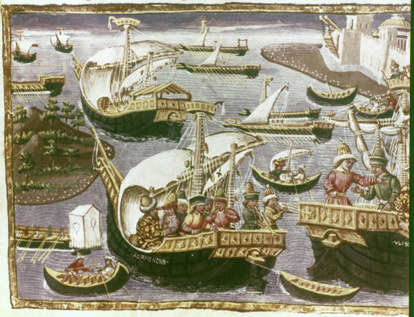Wall Art - Painting - Merchant Ships, C1465 by Granger