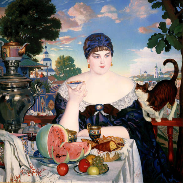 Fat Cat Painting - Merchant's Wife At Tea by Mountain Dreams