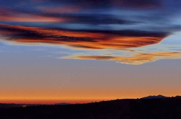 Astronomical Twilight Photograph - Mercury At Sunset by Juan Carlos Casado (starryearth.com)
