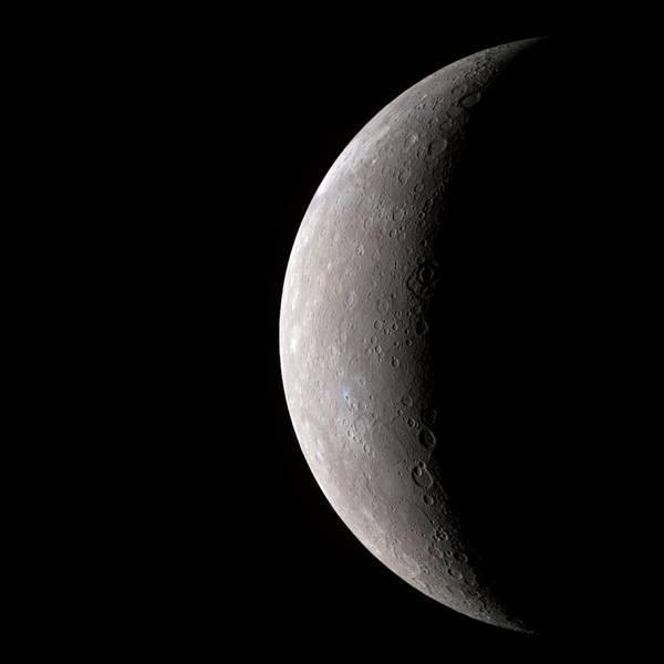 Flyby Photograph - Mercury by Nasa/johns Hopkins University Applied Physics Laboratory/carnegie Institution Of Washington /science Photo Library