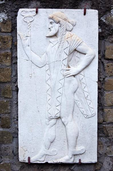 Wall Art - Photograph - Mercury Relief In Herculaneum. by Mark Williamson/science Photo Library