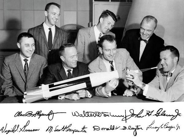 Professions Photograph - Mercury Seven Astronauts by Nasa