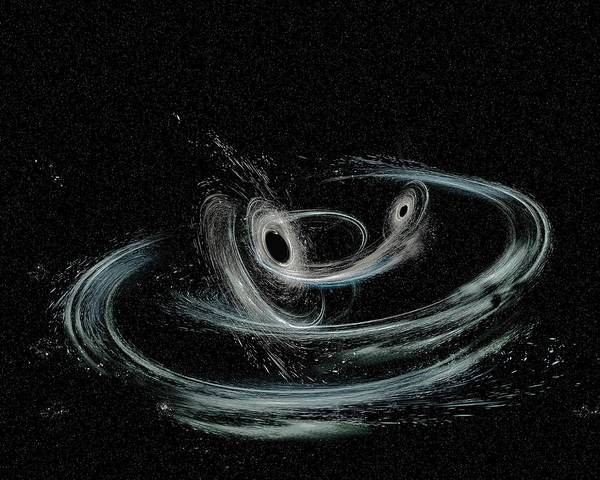 Aurore Photograph - Merging Black Holes by Ligo/caltech/mit/sonoma State (aurore Simonnet)/science Photo Library