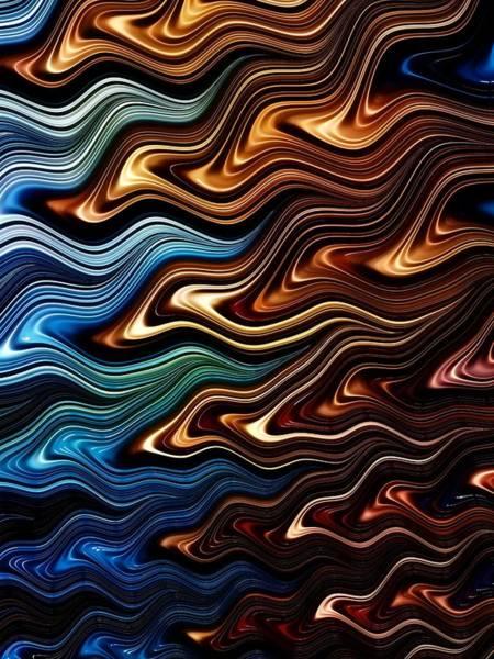 Merge Digital Art - Merging Waves by Amanda Moore
