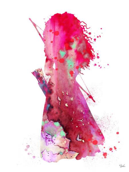 Brave Painting - Merida by Watercolor Girl
