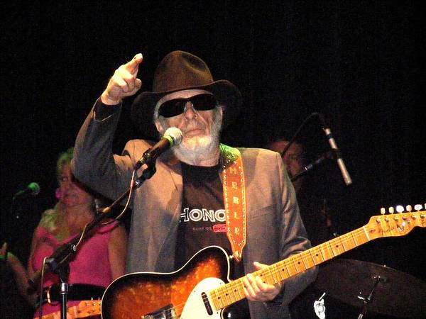 Muskogee Photograph - Merle Haggard In Concert by Kelly Mac Neill